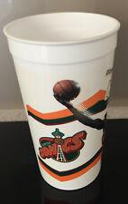 "1996 MCDONALDS OFFICIAL NBA ""SEATTLE SONICS - SHAWN KEMP"" HARD PLASTIC CUP USED"