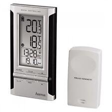 Hama 104930 estación meteorológica SME 180 radio reloj despertador exterior sensor termómetro