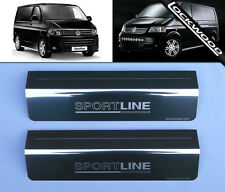 VW Transporter T5 (2003-2014) Sportline Stainless Sill Protectors / Kick Plates