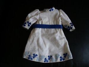 antike, alte Puppenkleidung, Kleid für Porzellankopfpuppe,mit Stickerei
