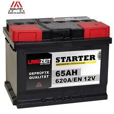 Autobatterie 12V 65Ah Starterbatterie statt 60Ah 61Ah 62Ah 64Ah KFZ PKW Batterie