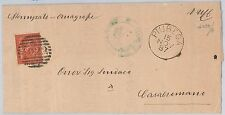 ITALIA REGNO:  LETTERA con annullo numerale a sbarre +  cerchio di  PIUBEGA 1887