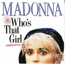 "MADONNA  Who's That Girl? PICTURE SLEEVE 7"" 45 rpm record + juke box title strip"