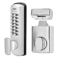LOCKWOOD DGT002 Series Digital Lock With Rim Latch & Holdback Satin Chrome In