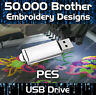 50,000 Brother Babylock Bernina Deco Embroidery design files PES on USB drive