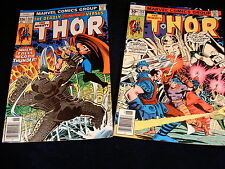 (2) THE MIGHTY THOR COMIC BOOKS # 260, 265 / 1977