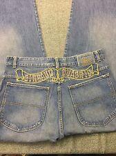 Marithe Francois Girbaud Dark Wash Double Button Baggy Loose Men Jeans Sz 36x33