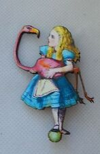 Alice in Wonderland Flamingo Brooch or Scarf Pin Accessories Fashion Wood new