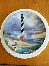 The Danbury Mint 'Beacon of Hope' Lighthouse Decorative Ceramic Plate Hatteras