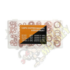 Metric Solid Copper Crush Washer Kit Set oil seal 6mm 8mm 10mm 12mm 14mm 16mm