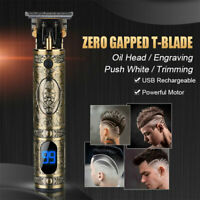 2021 New Cordless Zero Gapped Trimmer Men's Electric Rechargeable Clipper Barber