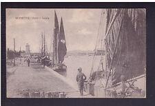 Cartolina Rimini Porto Canale BARCHE ANIMATA HH541