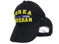 Korea Korean War Veteran Black Baseball Hat Cap