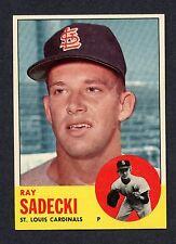 1963 Topps #486 Ray Sadecki NM  C00005516