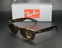 RAY BAN RB2132 710 New Wayfarer Light Havana Crystal Brown 52 Unisex Sunglasses
