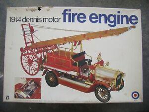 ENTEX 1/16 1914 DENNIS MOTOR FIRE ENGINE PLASTIC MODEL KIT