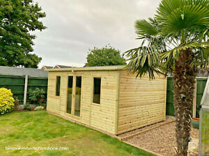 SUMMER HOUSE SHED GARDEN APEX OFFICE CABIN MAN CAVE delivery 8-14 weeks