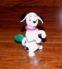 """Disney 101 Dalmatians """"Dog With Stocking"""" Plastic 3"""" Tall Toy Figure Only"""