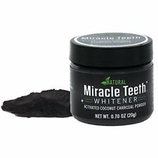 Miracle Teeth Whitener Natural Coconut Charcoal Powder Gentle-Teeth & Gums on TV