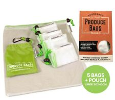 Reusable Mesh Produce Bags Eco Friendly   Set 5 Large Pouch Shopping Grocery