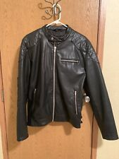 Zara Mens Leather Biker Jacket Medium