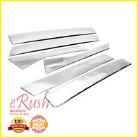 erushautoparts 6pcs Polished Steel Door Pillar Moldings for Ford Fusion
