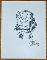 ROGUE BLACK AND WHITE SKETCH by CHRIS GIARRUSSO Marvel Comics X-MEN