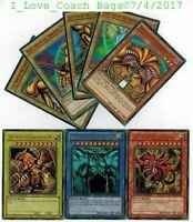 YUGIOH TCG: EXODIA + EGYPTIAN GOD CARDS: OBELISK SLIFER RA  8-CARD SET 1st YGLD