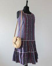 70s Vintage Dress Floral Cherry Pattern Kitsch Mod Prairie Folk 1970s Sundress 8
