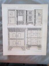 Vintage Print,MOBILIER APPARAT,ARMOIRES,COFFRES,Costume,Historique,1888,Racinet