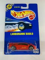 Hot Wheels Vintage Blue Card - New Model Lamborghini Diablo #123 - BOXED POST