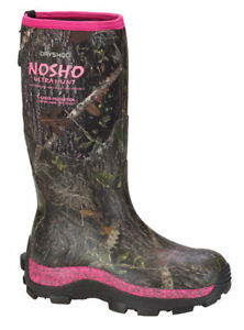 "Dryshod NOSHO Women's Hi Cut 15"" Boot Camo w/ Pink Camo Muck CHOOSE SIZE"