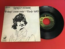 DISQUE VINYLE 45T : Ringo Starr - It don't come easy - Early 1970
