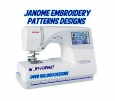 150,000+ Janome Embroidery Machine Patterns Designs in .JEF Format - 2 DVD SET