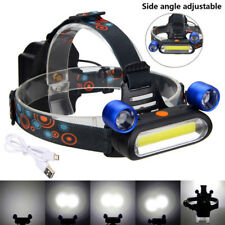 8000 LM 3X COB LED Headlamp Rechargeable Camping Headlight Head lamp Torch 4Mode