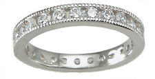 1 CT .925 STERLING SILVER ROUND CUT WEDDING  ETERNITY RING BAND SZ 5 6 7 8 9