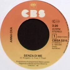 "ANNA OXA ~ SENZA DI ME / HI FI ~ 1983 DUTCH 7"" SINGLE ~ CBS CBSA 3316"