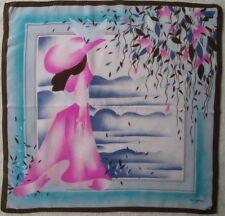 -Superbe foulard TED LAPIDUS  soie   TBEG vintage scarf 75 x 77 cm