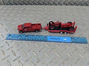 1/64 ERTL custom ih loaded down farmall m 350 Dodge 2500 truck trailer farm toy