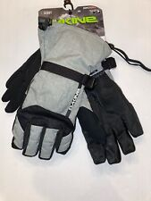 Dakine SCOUT Ski Snowboard Gloves w/ Removable Liner Touchscreen Gloves M Gray