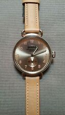 Shinola Canfield Women's 38mm light Gold Dial/ Tan leather Band Watch  - New