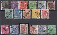 DC7969/ GERMANY SOVIET ZONE – MI # 166 / 181 COMPLETE MINT MNH CERTIF – CV 420 $