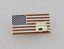 US Republican Patriotic Elephant Flag Lapel Pin