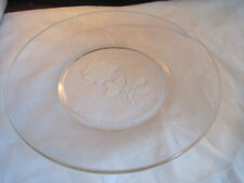 Vintage Avon Etched Glass Flower Collector Plate