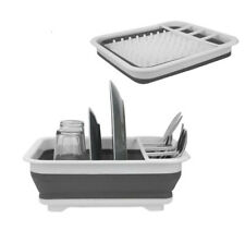 Collapsible Dish Rack Drainer Drying Portable Cutlery Dryer Space Saving Kitchen