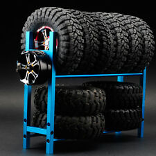 Aluminum Tire Rack for 1/10 RC Car Crawler Tire Wheel Rim RC4WD SCX10 D90 Blue