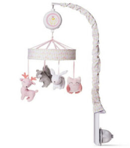 Cloud Island Musical & White Noise Crib Mobile Forest Frolic Baby Nursery Gray