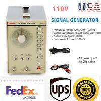 Radio Frequency Signal Generator High Frequency 100kHz-150MHZ RF/AM Signal 110V