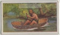 Round Coracle Boat Wales England India 85+ Y/O Trade Ad Card