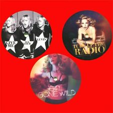 "MADONNA give me your luvin+girl gone wild+turn up the radio 3x12"" PACK coloured"